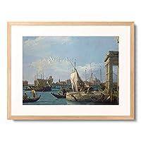カナレット Giovanni Antonio Canal 「The Punta della Dogana. About 1724/30」 額装アート作品