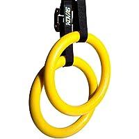 Kovas 体操リング オリンピックフィットネス 体操器具 自宅 ジム 体重 筋力トレーニング エクササイズに ストラップ付き