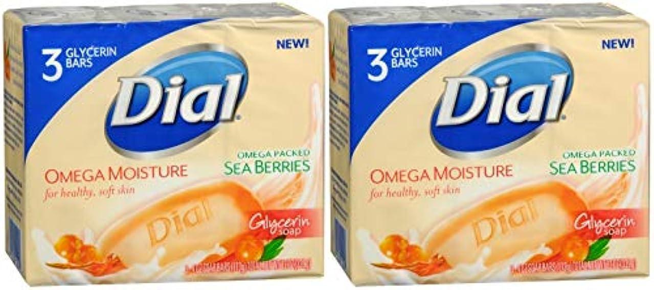 Dial オメガ水分グリセリンソープ、海ベリー - 3パック、4つのオズバー(2パック)