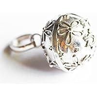 [Silver925]RainbowSpiritお花フラワーflower模様のガムランボール:ジャワンタイプ(SSサイズ)