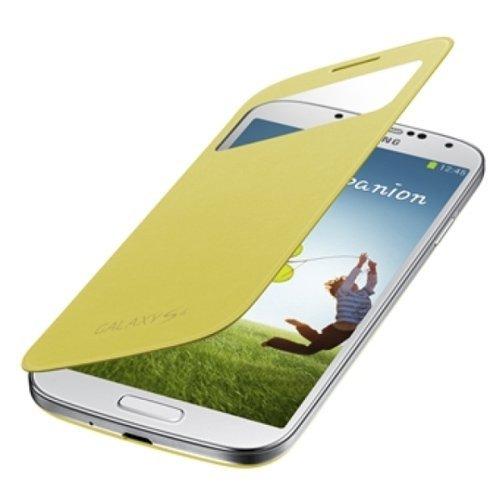 SAMSUNG純正GALAXY S4 S View Cover / docomo GALAXY S4 SC-04E専用カバー / イエロー(全7色) / ギャラクシーS4フリップカバー / ワンセグアンテナ対応 / イエロー