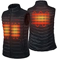 CONQUECO Men's Heated Vest Lightweight Electric Gilet Jacket with Battery Pack for Outdoors
