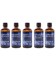 Mystic Moments | Gift Starter Pack of 5 x 50ml - Chakra - Essential Oil Blends