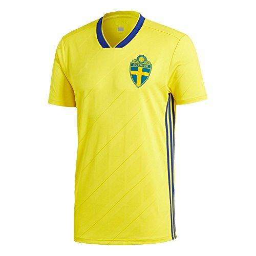 ワガワガ 2018サッカーワールドカップ ユニフォーム スウェーデン ホーム レプリカ 半袖 L