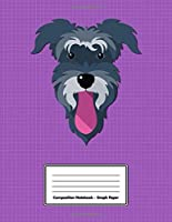 """Composition Notebook - Graph Paper: Purple Schnauzer 