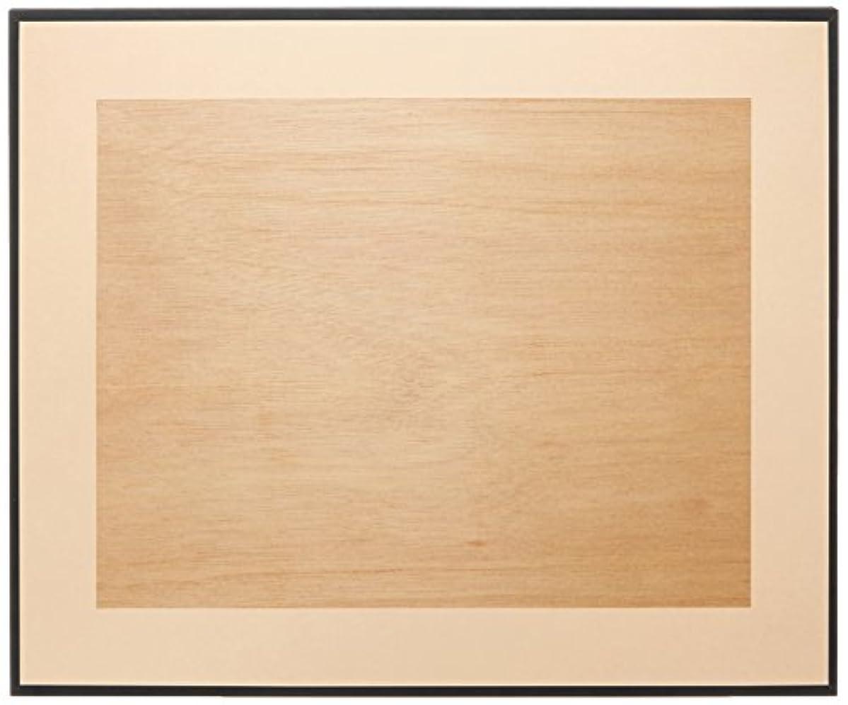 ゆり吸収するできるFUJICOLOR 額縁 マットパネルDX 半切 木製 ブラック 39699