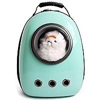 (つながる)Vedem ペットバッグ 犬猫用 プラスチック通気 メッシュ 宇宙船カプセル型ペットバッグ ペットキャリーリュック (ミントグリーン) [並行輸入品]