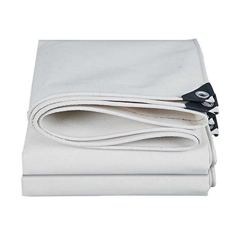 隔離塩辛いウェイトレスホワイトキャンバス防水シート防水屋外日焼け止め防風防風日焼け止め抗酸化耐摩耗性、厚さ0.8 mm、-500 G / M2、9サイズオプション