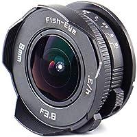 (バシュポ) Pixco CCTVレンズ 超広角8mm f/3.8 魚眼レンズ マイクロフォーサーズ対応(Micro4/3)