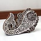 【アジア工房】インド製木彫りスタンプオブジェ『魚』[30100] [並行輸入品]