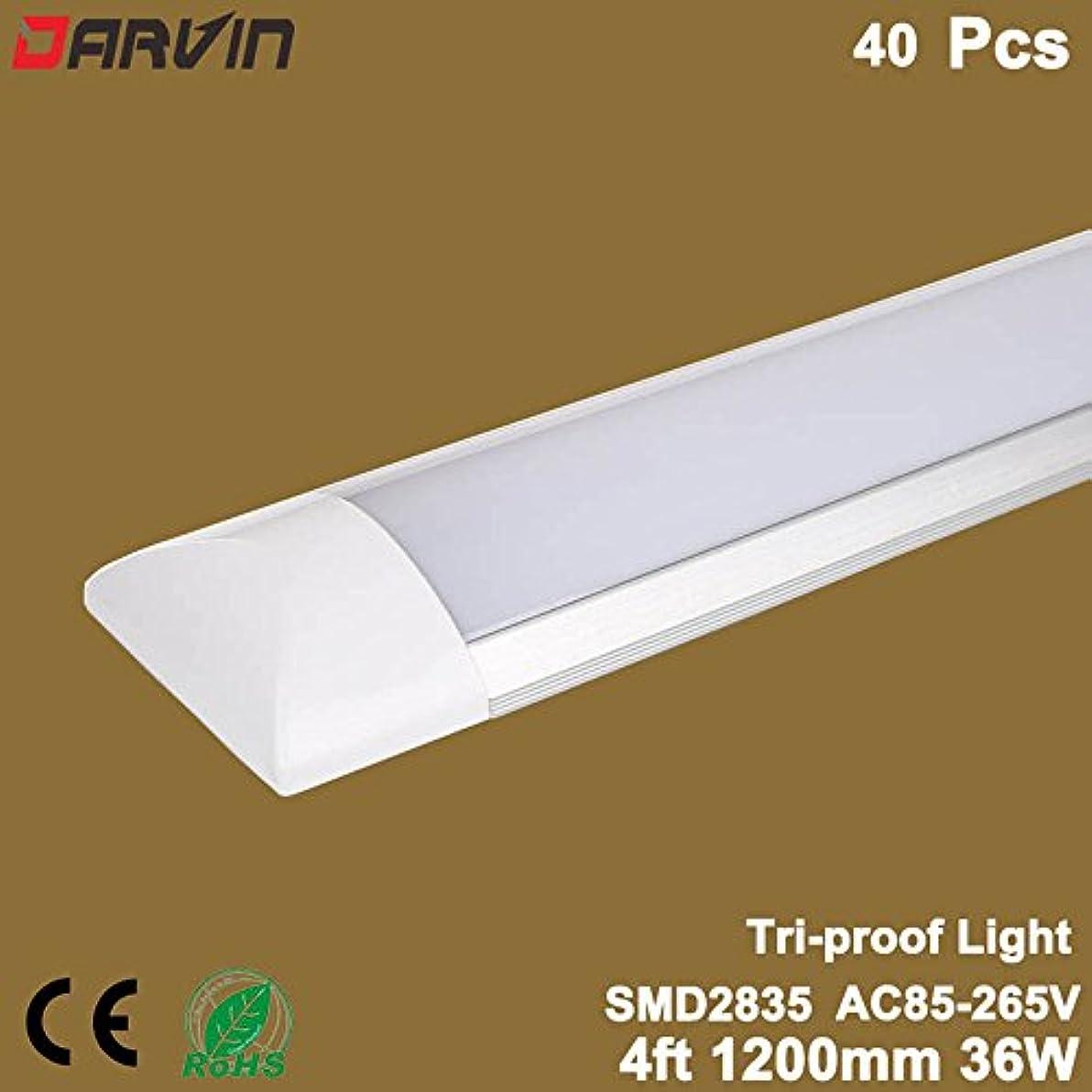 寝室を掃除する円周ランドマーク4フィートの床張り板をきれいに浄化を集積化した光ledライト36 w 1200 mm直線110、20個/ロット (Cold White 6500K, Milky Cover)