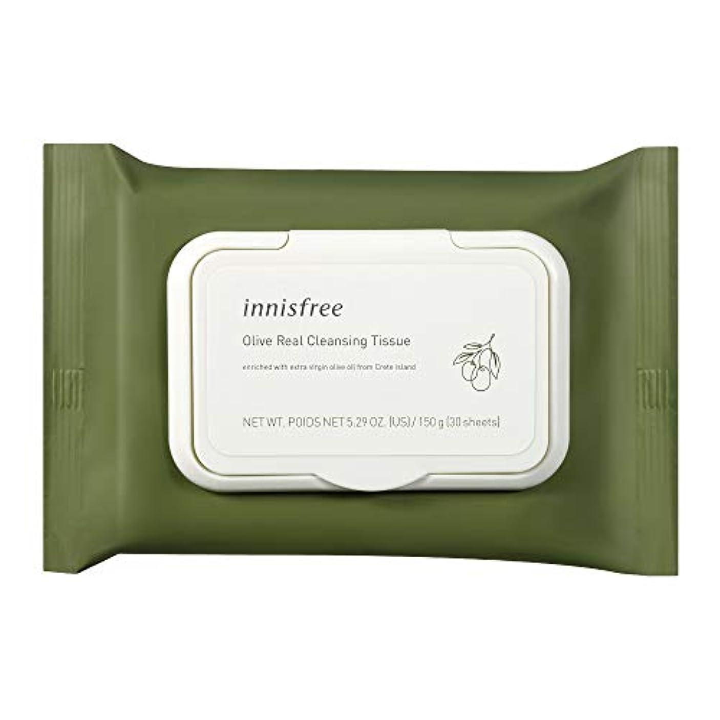 お風呂を持っている安心十二イニスフリー(innisfree) オリーブリアル クレンジングティッシュ 新パッケージ 30枚