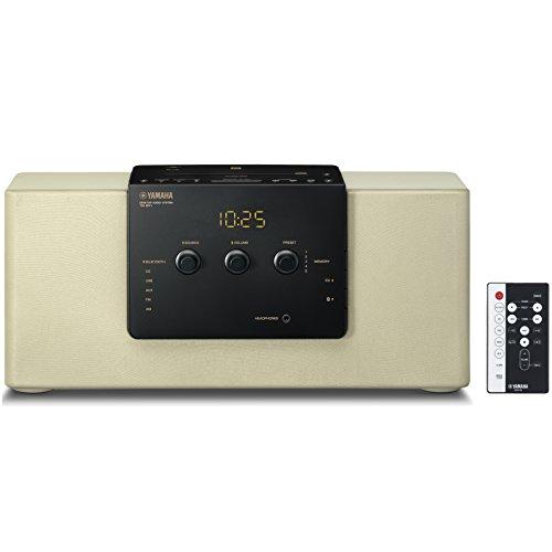 ヤマハ デスクトップオーディオシステム CD/USB/ワイドFM・AMラジオ Bluetooth aptX AAC 対応 クロックオーディオ シャンパンゴールド TSX-B141(NC)