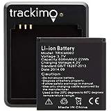 Trackimo GPSトラッカー 予備600mAhバッテリー。