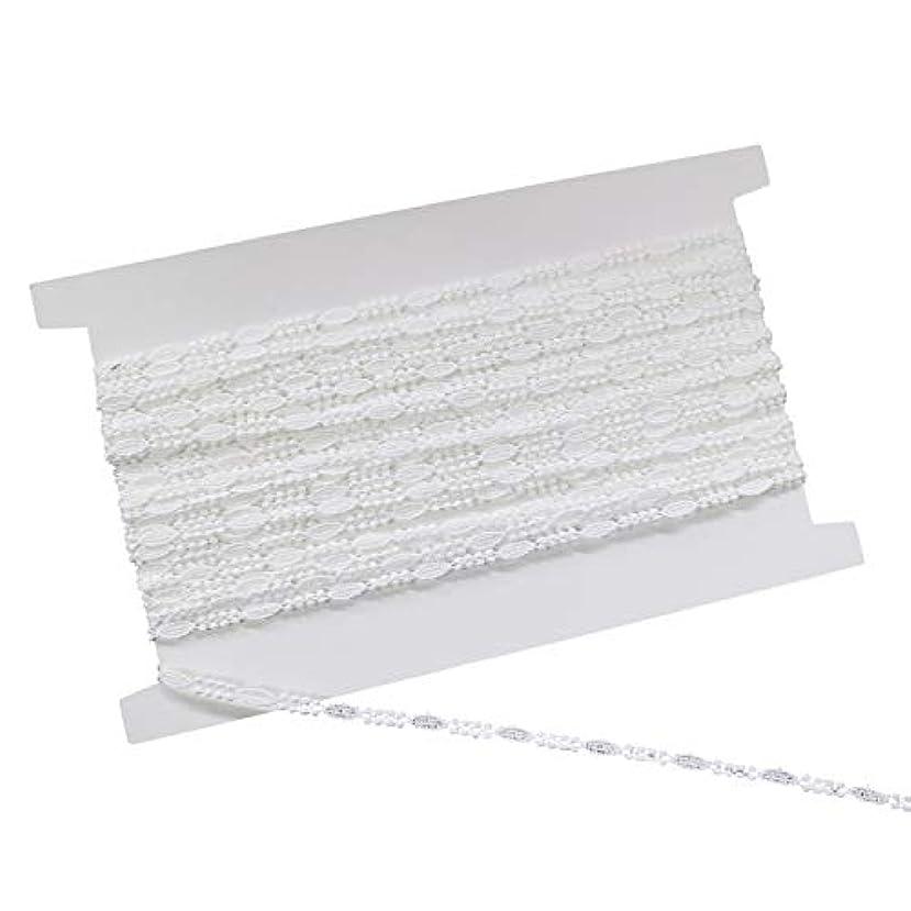 みすぼらしい製油所日常的に協和レース ケミカルレース 綿100% 5mm幅×13.7m巻 オフホワイト 25351
