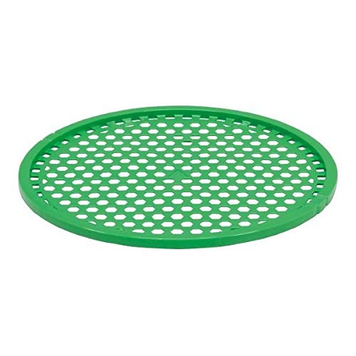 (業務用15個セット) 三甲(サンコー) 延縄ザル(ウニ養殖用篭/かご) 丸型 PE製 軽量 2尺-2 グリーン(緑)