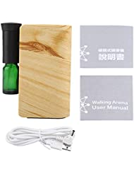 精油の拡散器、100ML USBの再充電可能な精油機械香りの拡散器の総本店(木材)