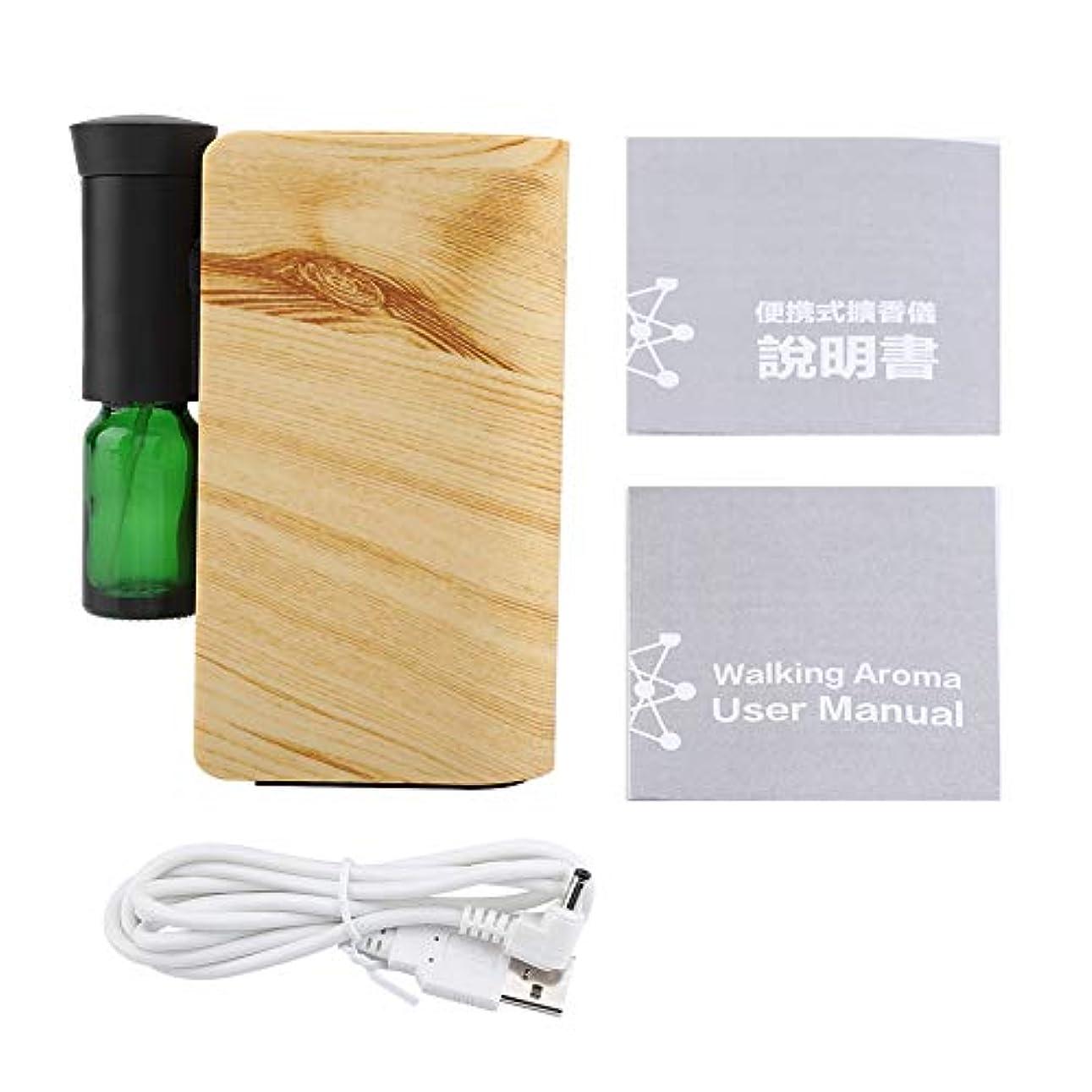 レザー本当に栄養精油の拡散器、100ML USBの再充電可能な精油機械香りの拡散器の総本店(木材)