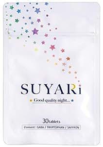 さくらの森 SUYARi おやすみサプリ 大麦乳酸発酵液ギャバ含有 トリプトファン サフランエキス