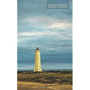 2019-2020 Monthly Pocket Planner: 24 Month Calendar | Lighthouse in Iceland (Nature & Landscapes)