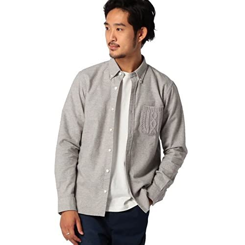 (ビームス) BEAMS / ニットパッチポケットシャツ 11112519803  LIGHT GRAY M
