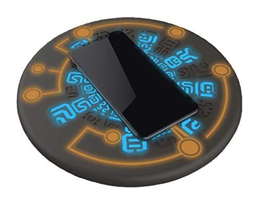 神祠 ワイヤレス充電器 LED 円形 10W 急速 置くだけ充電 魔術 USB無線充電器