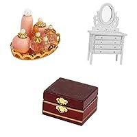 SM SunniMix ベッドルーム家具セット ミニチュア家具 ドールハウス用装飾 人形の家 知育玩具 簡単実用