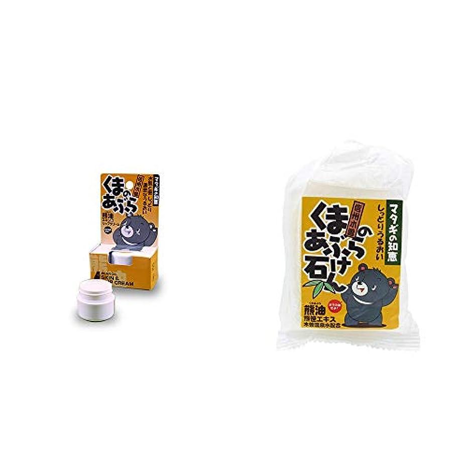 チートベスト製造[2点セット] 信州木曽 くまのあぶら 熊油スキン&リップクリーム(9g)?信州木曽 くまのあぶら石けん(80g)
