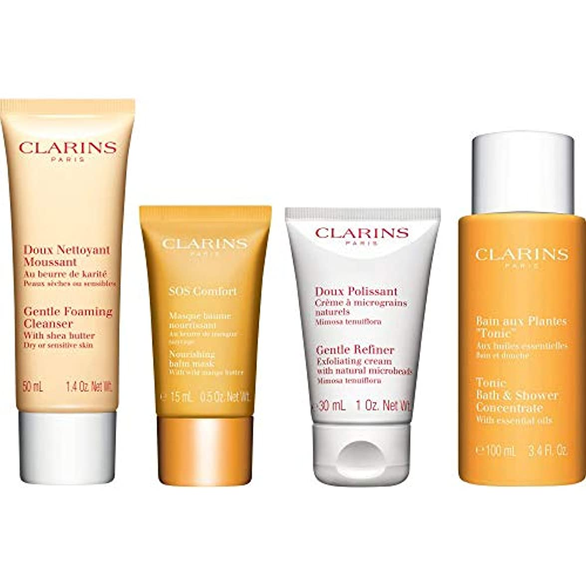 太鼓腹放散するテザー[Clarins] クラランス快適コレクションギフトセット - Clarins The Comfort Collection Gift Set [並行輸入品]