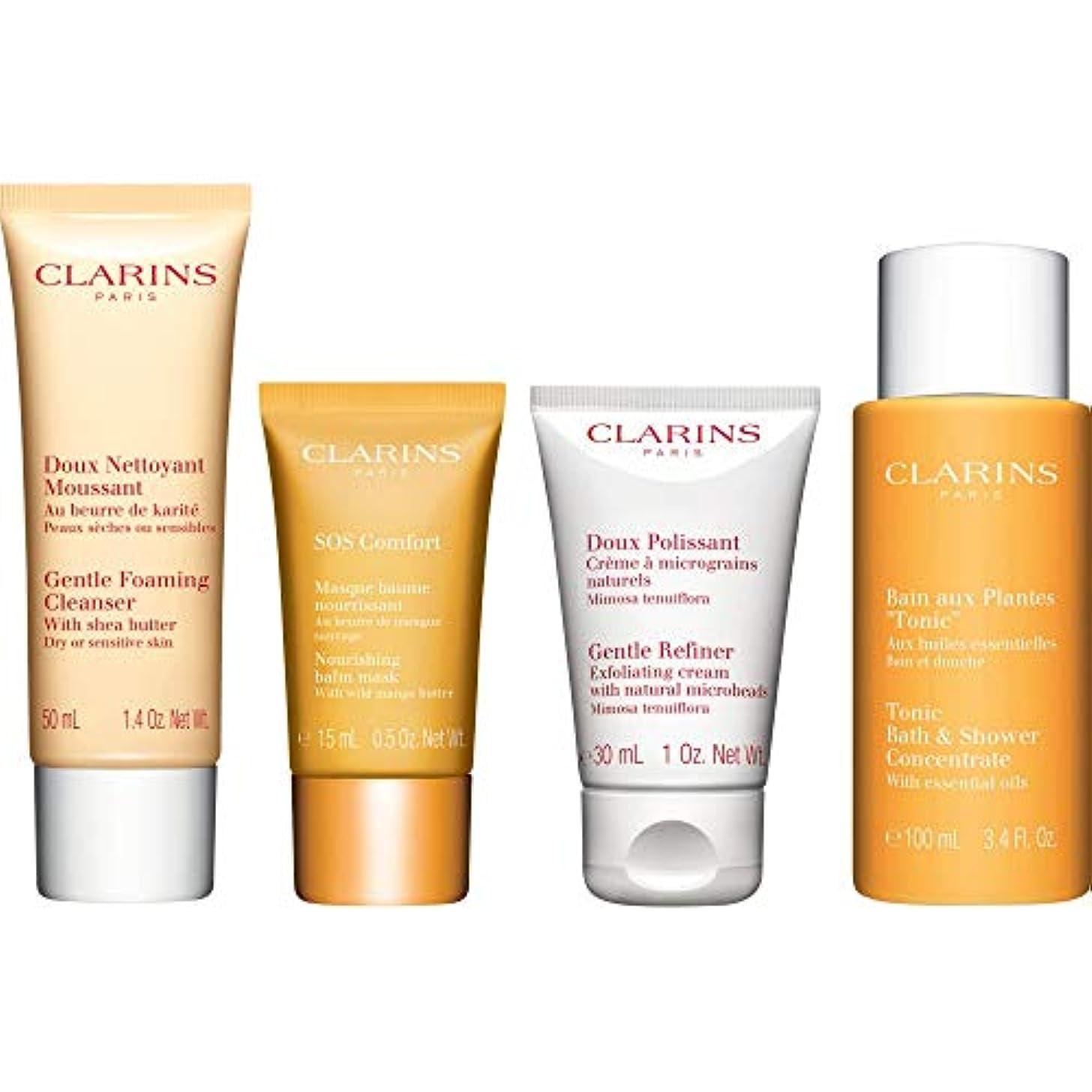 誕生父方のキャラクター[Clarins] クラランス快適コレクションギフトセット - Clarins The Comfort Collection Gift Set [並行輸入品]