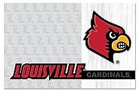 NCAAチームロゴとLouisville Cardinals用紙プレイスマット(24パック)