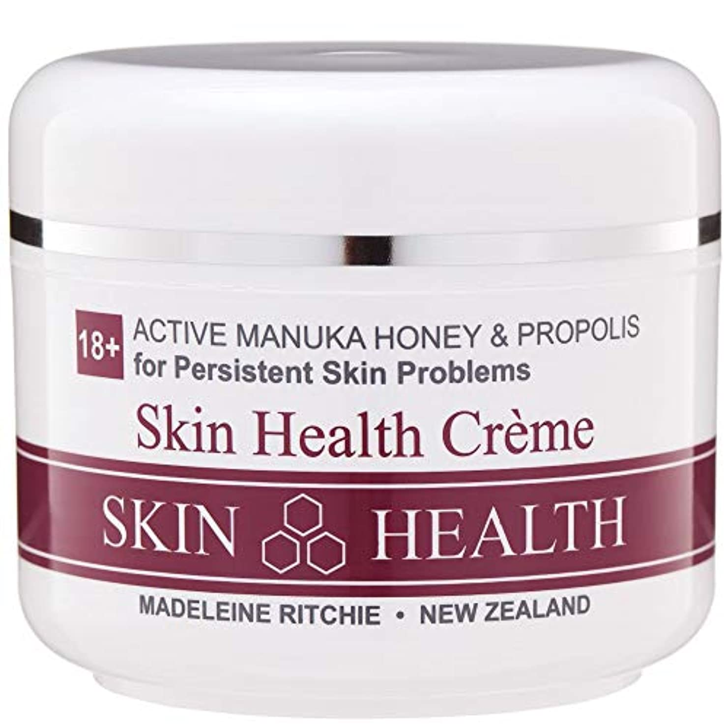 ハリウッドマインドフル実行可能Madeleine Ritchie New Zealand 18+ Active Manuka Honey Skin Health Cream Jar 100ml