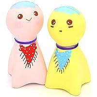 cinhent絶妙な楽しい応力Relieverかわいいサニー人形クリーム香りつきSquishyチャームSlow Risingシミュレーションおもちゃ(ランダムカラフル)