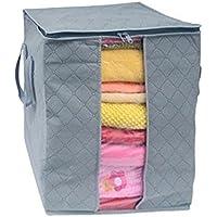 cinhentホーム1pc Large衣類寝具布団Zip形式枕不織ストレージバッグボックス、ソフトで通気性、サイズ48 × 28 × 50 cm、Carry Handles, Great for毛布、クローゼット、寝室など 48×28×50CM CINHENT-0301000