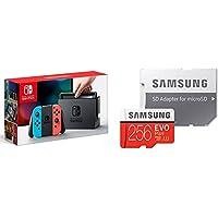 Nintendo Switch Joy-Con (L) ネオンブルー/ (R) ネオンレッド + Samsung microSDXCカード 256GB セット