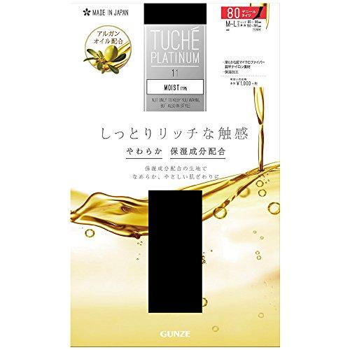 (グンゼ トゥシェ プラチナム)GUNZE TUCHE PLATINUM MOIST TYPE 80デニール タイツ (日本製) M-L ロイヤルネービー