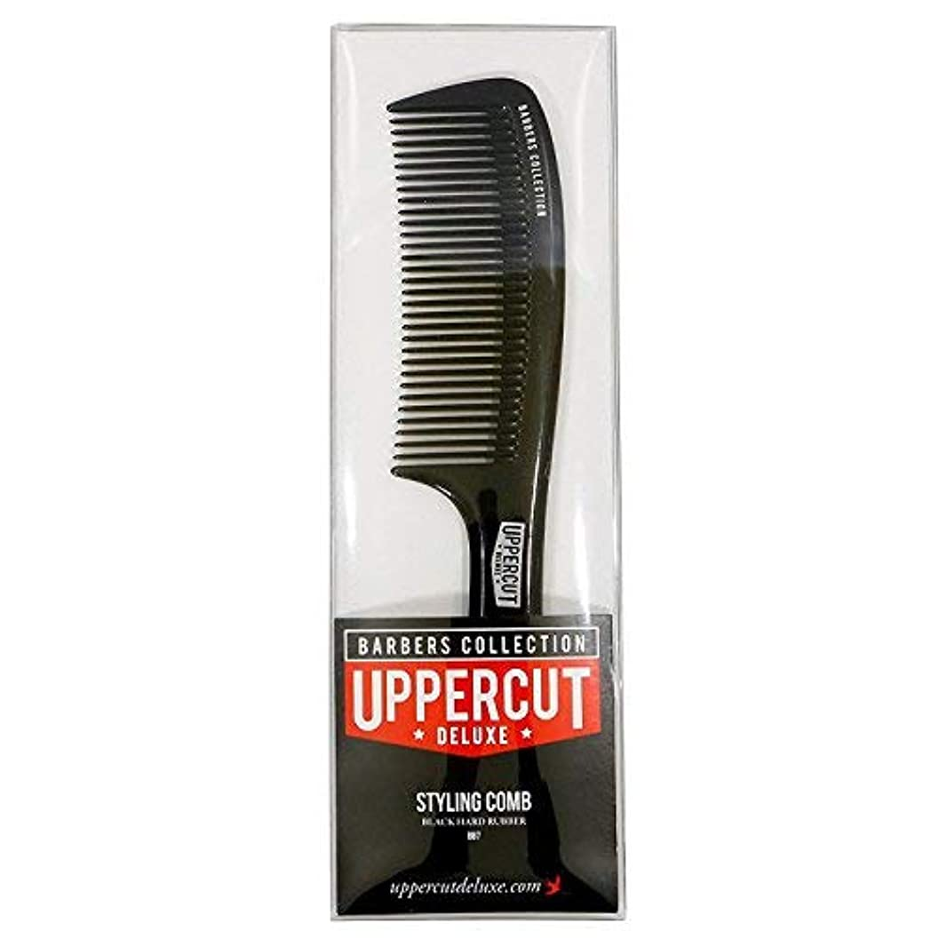 清める香り虫を数えるUppercut Deluxe Men's Bb7 Barber Styling Comb Black [並行輸入品]
