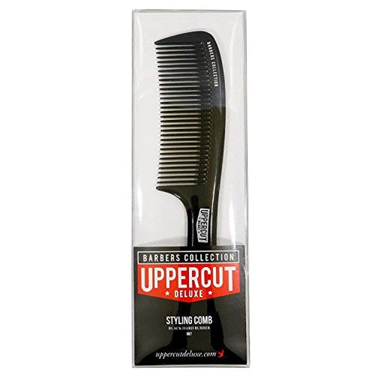 ハイランド振り子断線Uppercut Deluxe Men's Bb7 Barber Styling Comb Black [並行輸入品]