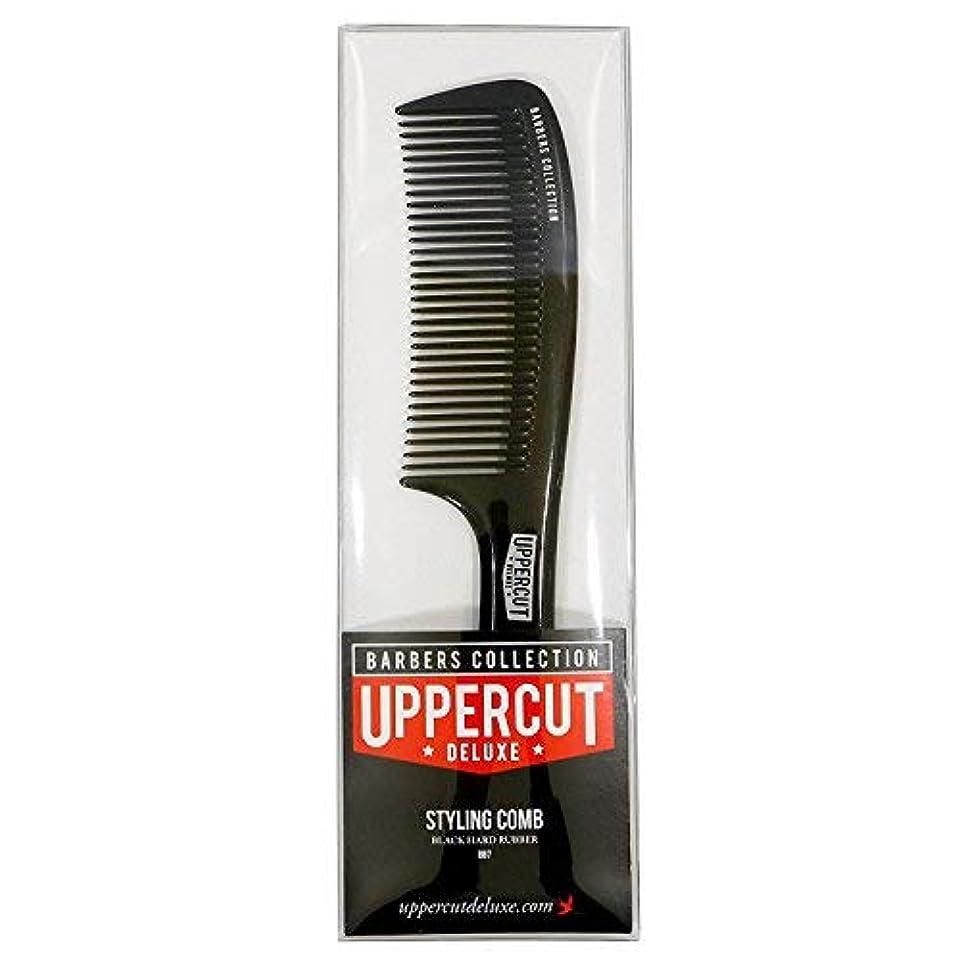 味付け驚くばかり唇Uppercut Deluxe Men's Bb7 Barber Styling Comb Black [並行輸入品]