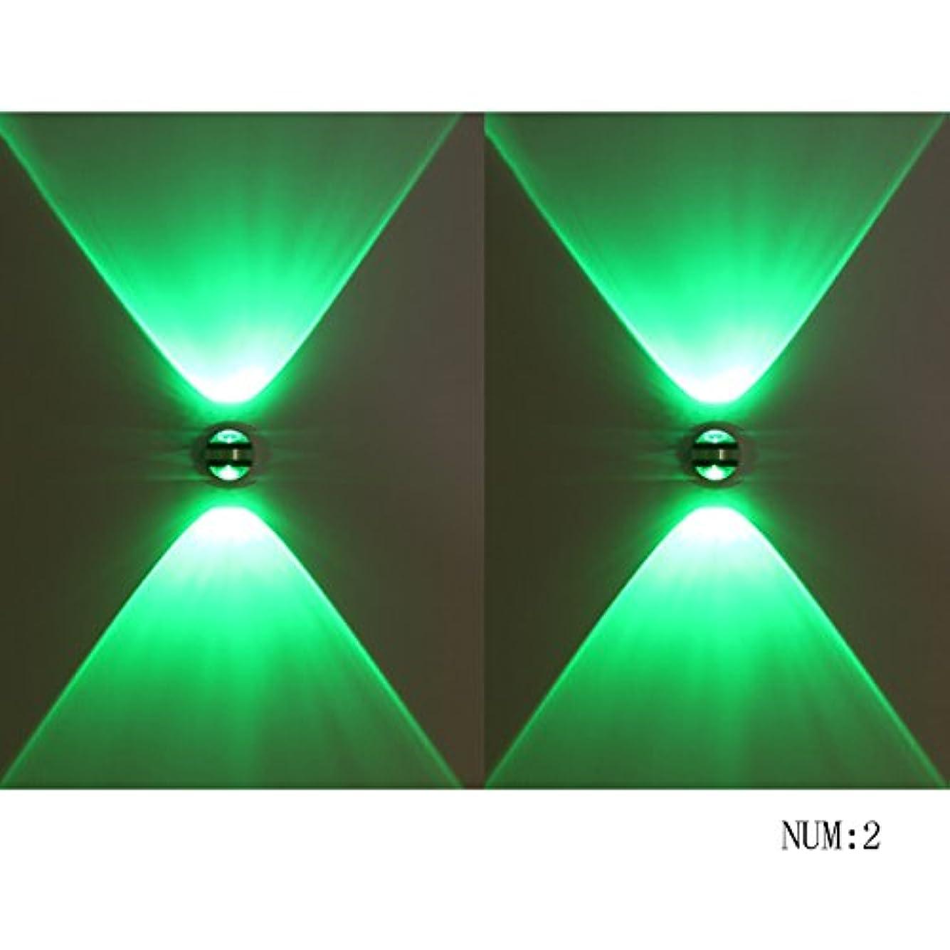 危険を冒します明らかにする語Gvqng ブラケットライト ウォールランプ 6W LED多色MINIステンレス鋼壁ランプ二方向のスポットライトリビングルームの背景ホテルバーレストランKTV360°回転可能な雰囲気壁取り付け用燭台(7色) (Color : Green)