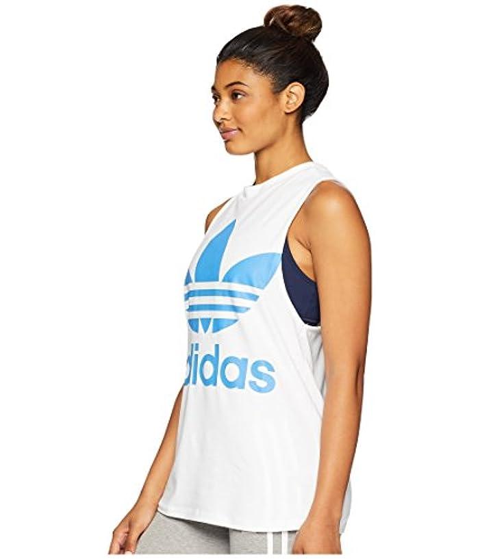 矩形皮肉たるみ[adidas(アディダス)] レディースタンクトップ?Tシャツ Trefoil Tank Top White/Super Blue L
