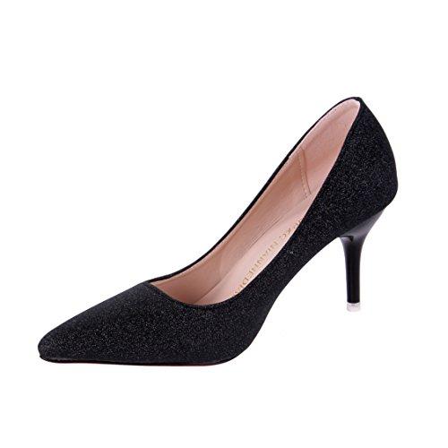 0e3f095764bb3 グリッター キラキラ パンプス レディース ピンヒール ハイヒール 8cm ヒール 靴 パーティー 結婚式 ...
