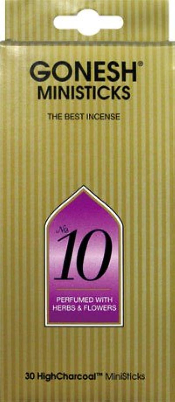 インゲン熟練したピジンGONESH ミニスティック NO.10 30本入 X 2個セット