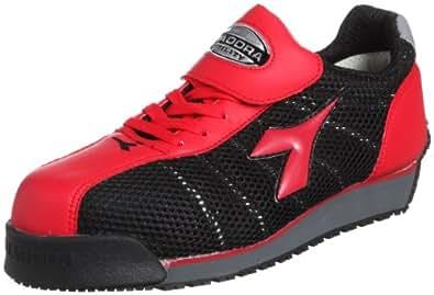[ディアドラユーティリティ] 作業靴 スニーカー KF32 KF32 レッド&ブラック(レッド&ブラック/23.5)