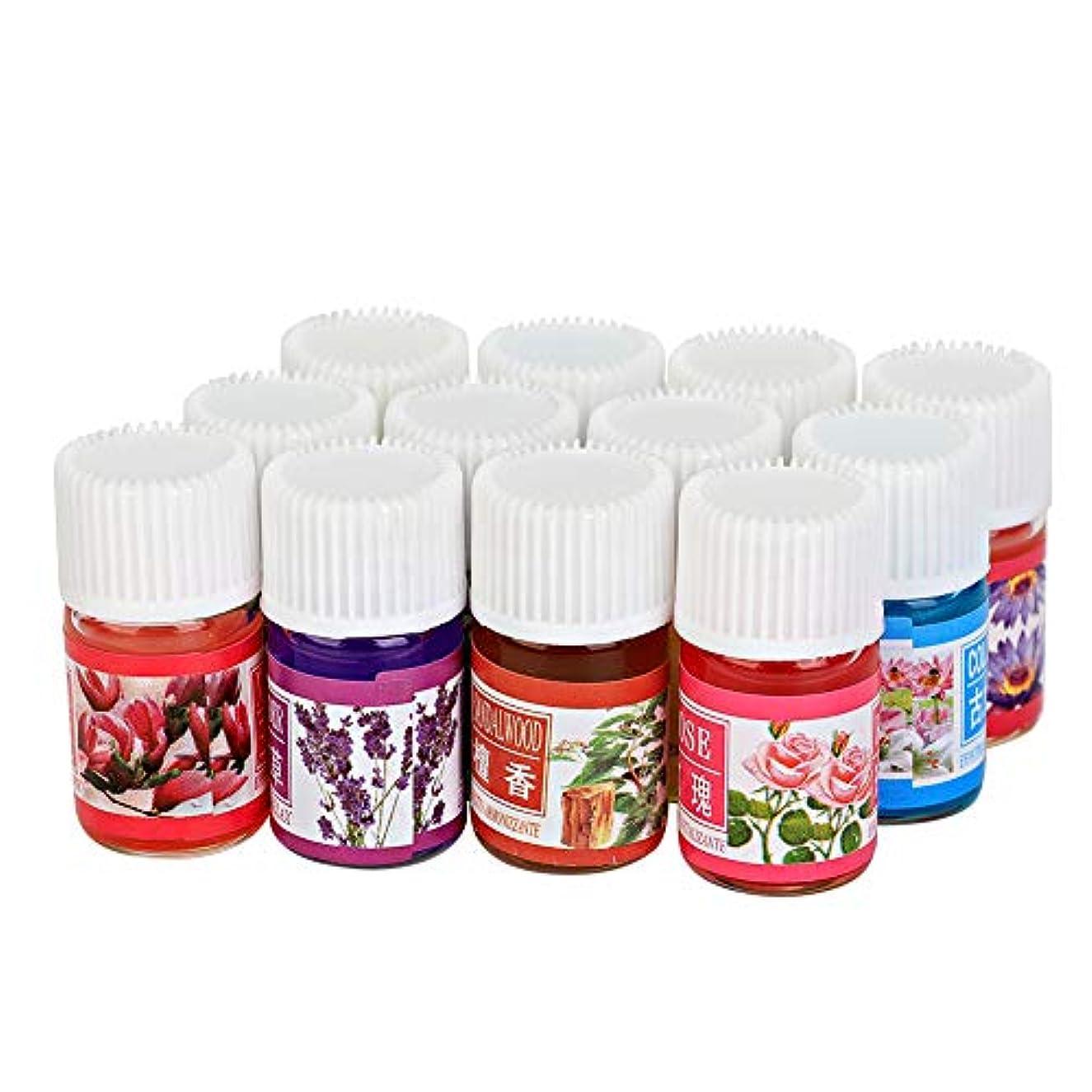 加湿器 インセント アロマオイル エッセンシャルオイル ブレンド (12種類のフレーバー 各3ml) 精油 ブレンドオイル  植物エッセンシャルオイル 人気12本セット