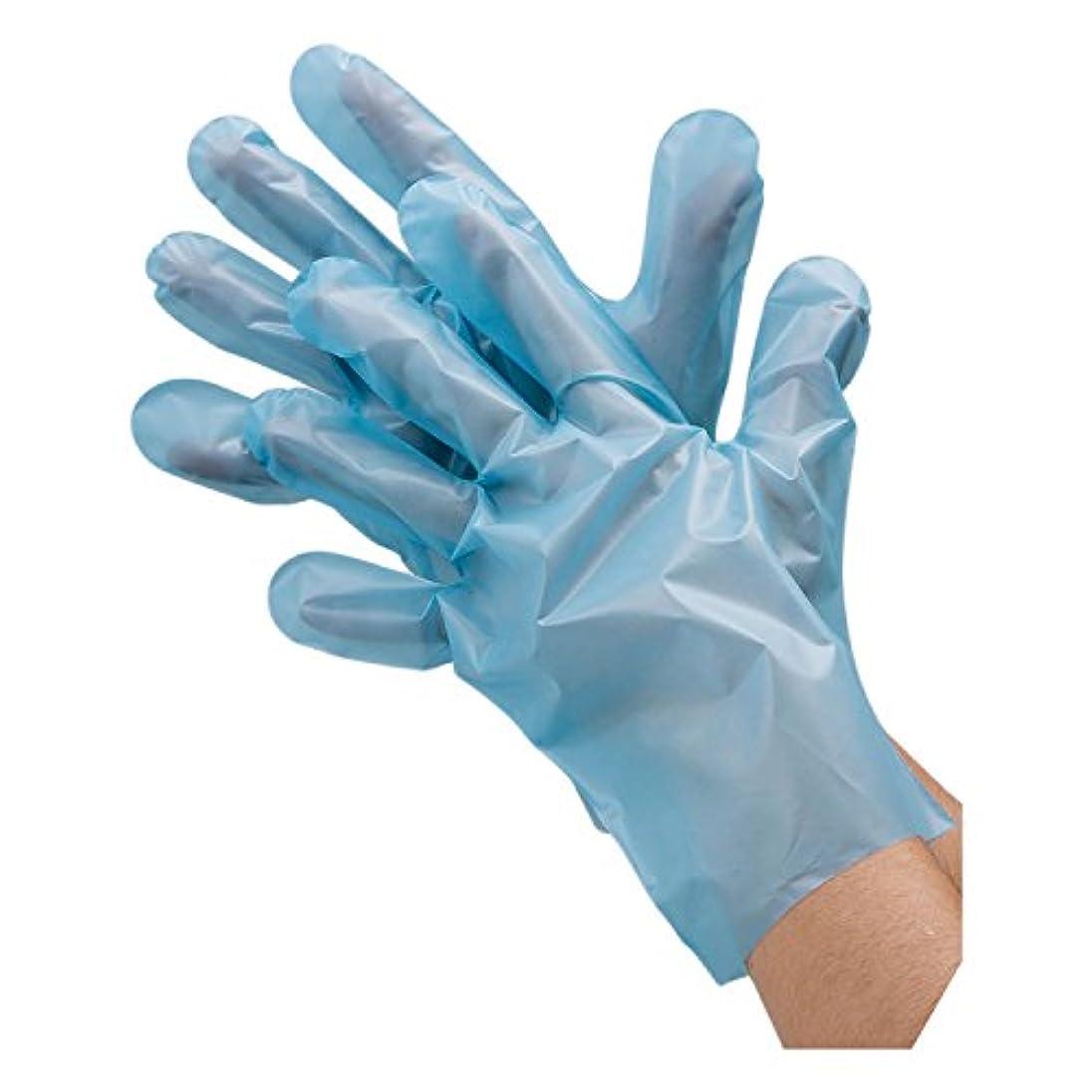 過去地域あご川西工業 ポリエチレン手袋 外エンボス エコノミー 100枚入 #2018 ブルー M