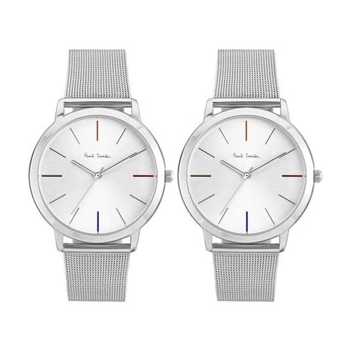 [ポールスミス]Paul Smith メンズ レディース ペアウォッチ MA シルバー文字盤 シルバー メッシュベルト P10054P10054 腕時計 [並行輸入品]