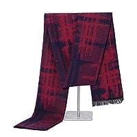 冬メンズスカーフ新しいシンプルブラッシュウォームビブ男性若い人々編み物ビジネスカジュアルワイルドファッションシンプルな印刷スカーフ、男性のためのギフト,B,180CM*30CM