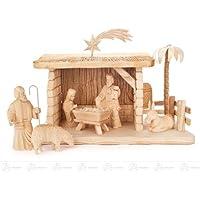 馬小屋が付いている誕生そして付属品の誕生図は (7) x の深さ 31 cmx23 cmx13,5 cm の鉱石山のクリスマスの装飾のテーブルの装飾の幅 X の高さを切り分けました