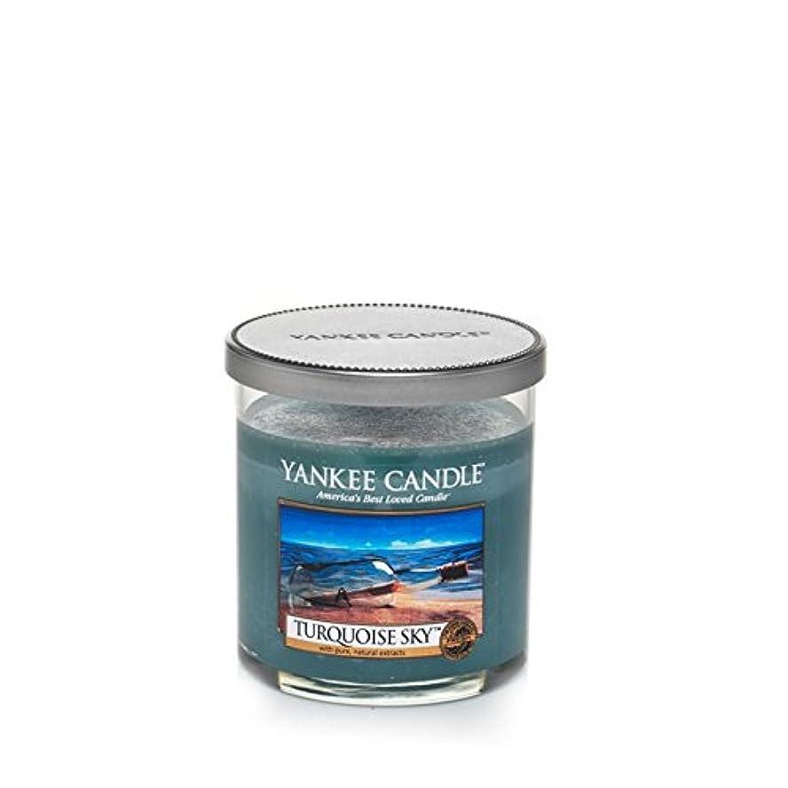 アニメーション賛辞ブラウザYankee Candles Small Pillar Candle - Turquoise Sky (Pack of 2) - ヤンキーキャンドルの小さな柱キャンドル - ターコイズの空 (x2) [並行輸入品]